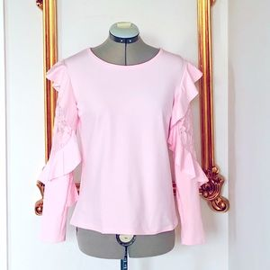 NWOT Lace Ruffle Long Sleeve Top